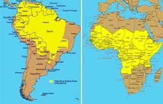 Эндемичные страны по желтой лихорадке