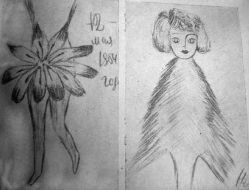 Рисунки больной шизофренией